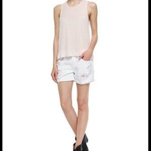 Rag & Bone High Waist Distressed white shorts - 27